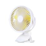 New Well Star WT-F15 Portable Clip Fan 360 Degrees Rotation USB Mini Stripe Fan Rechargeable Air Cooling Fan Clip Desktop Fan Dual Use Portable Home Student Office Fan