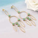 New JASSY Hollow 18K Gold Plated Earring