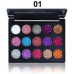 New CmmaDu 15 Colors Glitter Eyeshadow Palette