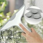 New Glass Window Squeegee Shower Bathroom Mirror Wiper Kitchen Cleaner Water Vapor Removal With Suction