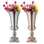 New 43cm Stunning Luxury Silver Gold Flower Vase Wedding Table Centrepiece Decor