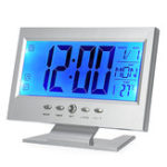 New Digital LCD Electronic Alarm Clock Backlight Voice Control