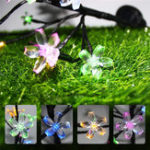 New Solar Powered Cherry Blossom Tree Branch Outdoor Waterproof LED String Holiday Light for Patio Decor