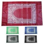 New Portable Islamic Prayer Rug Teppich Easy Praying Blankets w/ Pocket Ramadan Islamic Decoration Gifts