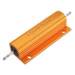 New RX24 100W 5R 5RJ Metal Aluminum Case High Power Resistor Golden Metal Shell Case Heatsink Resistance Resistor