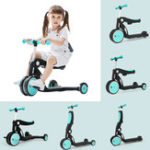 New Xiaomi BEBEHOO 5 In 1 Multifunctional Deformation Tricycle Kids Scooter Max Load 20kg Children Balance Bike Three-wheeled Bike