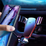 New Cafele Metal Gravity Linkage Automatic Lock Air Vent 360º Rotation Car Phone Holder For 4.0-6.5 Inch Smart Phone