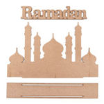 New MDF Eid Mubarak Ramadan Islamic Wooden Gift Calendar Sign Tray Decorations
