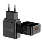 New PZOZ 18W Quick Charge 3.0 USB Charger Fast Charging Adapter EU Plug For iPhone X XR XS Max Xiaomi Mi8 Mi9 S9 S10 S10+