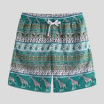 New Men Print Drawstring Beach Leisure Board Shorts
