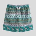 New Men Print Drawstring Beach Leisure Board Shorts