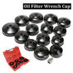 New 14PCS Oil Filter Removal Wrench Cap Socket Drive Remover Tool Car Repair Kit Universal