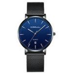 New CRRJU 2270 Men Simple Dial Full Steel Quartz Watch