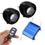 New Speaker Horns with LED Lights Motorcycle Alarm System AUX Audio MP3 Player with bluetooth Function