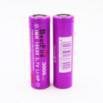 New 2PCS BestFire 18650 Battery 3000mAh 40A 3.7V Rechargeable Lithium Battery