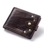 New GZCZ  Men Genuine Leather Card Holder Rivet Wallet Coin Bag