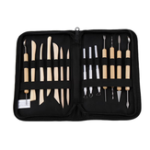New ZHUTING TL-14 14Pcs Clay Sculpting Carving Tool Set Wooden Metal Pottery Clay Tools Professional DIY Ceramic Modeling Kit for Clay Wood Shaping Handicraft Painting Embossing with Bag