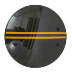 New PC Thicken Round Riot Shield Handheld Shield for Police Tactical CS Campus Security Equipment