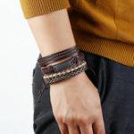 New Retro Handmade Weaving Bracelet Set