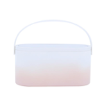 New MUID  Cosmetic Bag Dressing Case Portable Travel Dresser Cosmetic Mirror Lamp Fixing Makeup Lipstick Skin Care Product Storage Box Basket