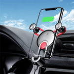 New Baseus Gravity Linkage Automatical Lock Air Vent Car Phone Holder With Type-C USB-C Cable For Type-C Port Smart Phone 4.0 Inch – 6.5 Inch Samsung Galaxy S10