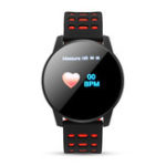 New 1.3′ Color Screen Heart Rate Blood Pressure Oxygen Monitor Waterproof Social Message View Smart Watch