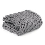 New 120x150cm Handmade Knitted Blanket Soft Warm Thick Line Cotton Throw Blankets