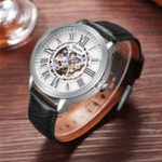 New OULM 3688 Genuine Leather Automatic Mechanical Watch
