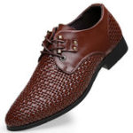 New Microfiber Breathable Weave Business Oxfords