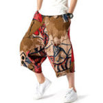 New Mens Vintage Pattern Printed Baggy Harem Pants
