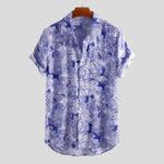 New Mens Summer Floral Printed Rayon Hawaiian Shirts