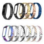 New Bakeey Colorful Stainless Steel Watch Band Replacement Watch Strap for Xiaomi mi band 3