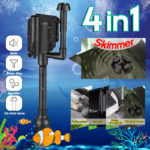 New Sunsun 3 In 1 Multi-function Submersible Pump Fish Tank Oxygen Small Aquarium Pump Filter Mute Pump
