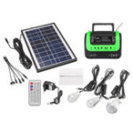 New AC 120V-240V Portable Solar System Generator with Solar Panel Radio MP3 Flashlight Power Supply