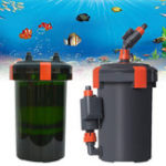 New 6-25W 450-800L/H Aquarium Fish Tank External Canister Filter with Filter Cotton