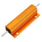 New RX24 100W 4R 4RJ Metal Aluminum Case High Power Resistor Golden Metal Shell Case Heatsink Resistance Resistor