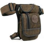 New Men Outdoor Tactical Belt Waist Bag Motorcycle Rider Canvas Drop Leg Pack  Pouch