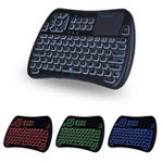 New  iPazz Port KP-810-61BT Three Color Backlit bluetooth English Wireless Mini Keyboard Touchpad Airmouse Air Mouse