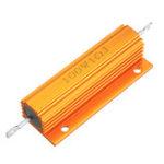 New RX24 100W 1R 1RJ Metal Aluminum Case High Power Resistor Golden Metal Shell Case Heatsink Resistance Resistor