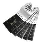 New 5pcs 34mm Bi-metal Straight Saw Blade Oscillating Multi Tools for Fein Black and Decker