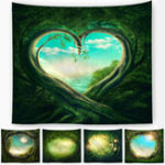 New Polyester Fancy Moon Light Tapestry Throw Mat Yoga Rug Wall Hanging Home Decor Art Crafts