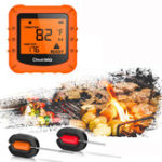 New Bluetooth Wireless LCD Meat Thermometer 2 Probes Cooking BBQ Oven Grills Party