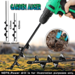 New 66×420/66x620mm Garden Auger Small Earth Planter Drill Bit Post Hole Digger Earth Planting Auger Drill Bit for Electric Drill