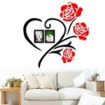 New 50×50/80x80cm 3D Roses Acrylic Wall Sticker Vinyl Art Decor Living Room Home Decal