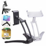 New Desktop Wall Aluminum Alloy 360º Rotation Phone Holder Tablet Stand For 4 Inch – 10.5 Inch Smart Phone Tablet iPad 9.7 Inch 2018
