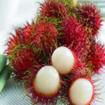 New Egrow 5Pcs/Pack Rambutan Seeds Red Fruits Bonsai Plants Home Garden Ornamental Trees