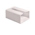 New KCASA Japanese Style Portable Traceless Toilet Paper Holder Household Tissue Box Plastic Toilet Towel Holder-White