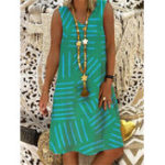 New Women Casual V-Neck Sleeveless Dress