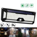 New 180 LED 4 Sides Solar Power Light PIR Motion Sensor Garden Outdoor Yard Wall Lamp