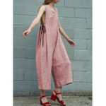 New Vintage Sleeveless Solid Overalls